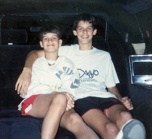 Todd and I in my limo